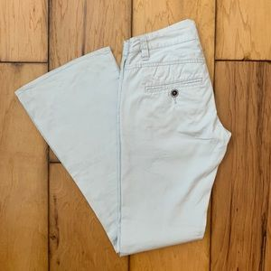 Roxy Off-White Twill Flared Pants